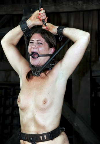 cute babe gates bounded and tortured