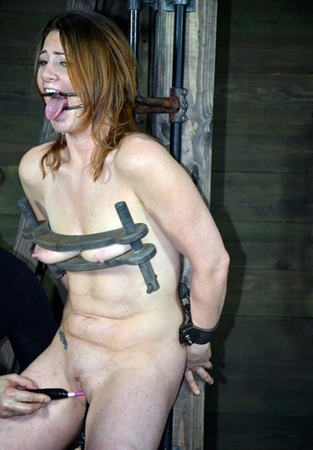 cute slave screams as her pussy gets tortured